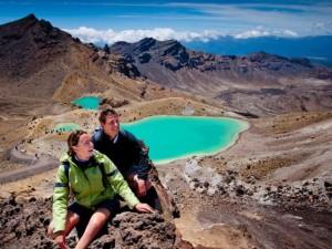 Casal em Tongariro National Park, na Nova Zelândia