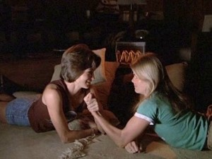 """As atrizes Mariel Hemingway e Patrice Donnelly, do filme """"As Parceiras"""", uma história de amor, suor e sapatilhas"""