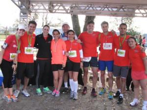 Advogados e funcionários da Pinheiro Neto Advogados nas provas de corrida de rua
