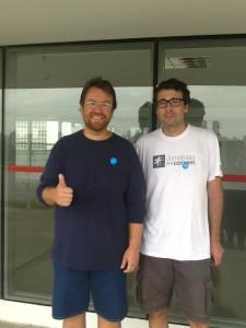 Mandrey, da Dieta da Rede Social, e Paulo Vieira, do Jornalistas que Correm, em São Paulo