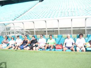 jornalistas no Itaipava Arena Fonte Nova em 26 de abril de 2014