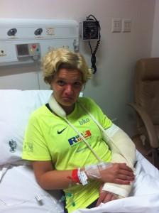 No hospital, logo após o acidente