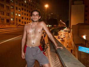 Leandro correu e gostou/Foto: Leo Feltran