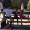 No durante da maratona – e um pouquinho no depois