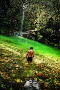 Uma das cachoeira do complexo Lokinhas, em Alto Paraíso /Foto: Chema Llanos