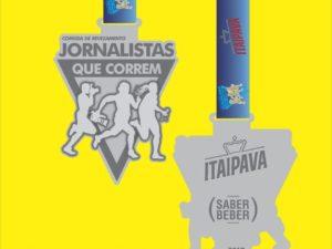 Medalha da corrida JQC Aracaju edição 2017