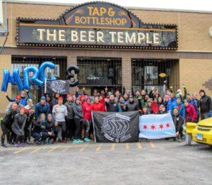Reunião do Run Club em Chicago